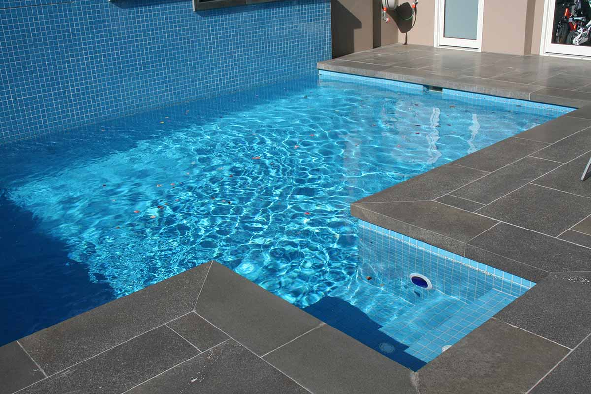 blue ocean honed bluestone pool coping