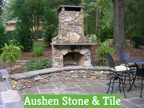 Outdoor Patio and Hearth Fireplace Desig