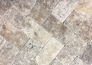 silver tumbled brick shape